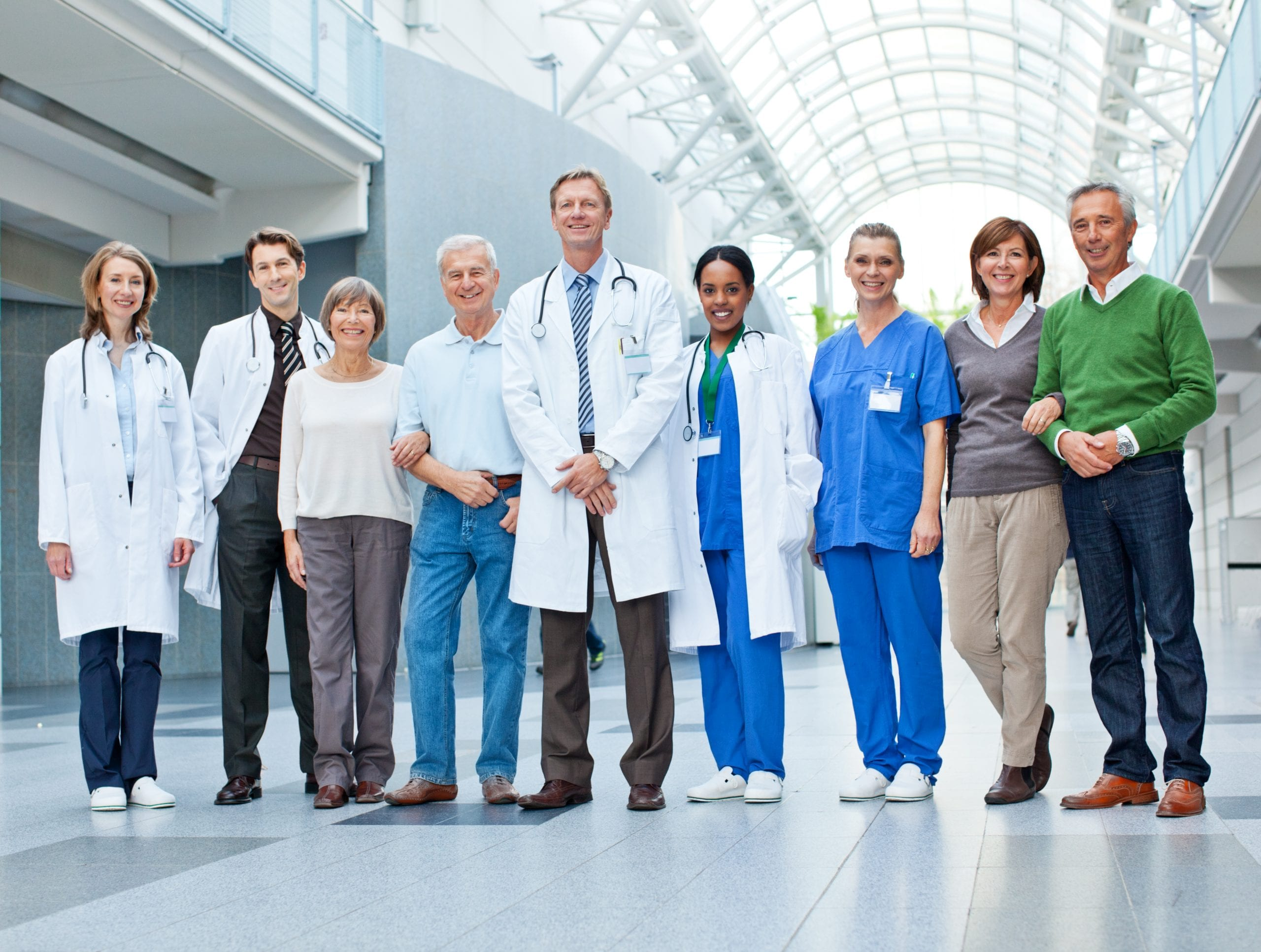 """""""Doctors, nurses and patients at the hospital"""""""